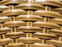 Закрытый вверх по деревянной плетеной предпосылке текстуры Стоковое Изображение RF