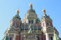 Закрытый вверх по красочной церков Стоковое Изображение