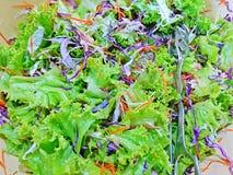 Закрытый вверх по смешанному салату в шаре Стоковые Фото
