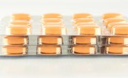 Закрытый вверх по таблетке в пакете волдыря Стоковая Фотография