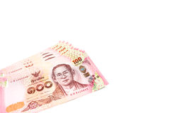 Закрытый вверх по тайскому счету 100 батов Стоковые Фотографии RF