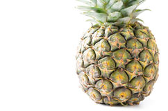 Закрытый вверх свежего ананаса изолированного на белизне Стоковое Изображение