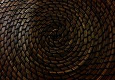 Закрытый вверх текстуры картины Weave корзины Стоковое Изображение RF