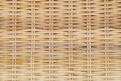 Закрытый вверх текстуры ротанга картины Weave корзины Стоковые Изображения