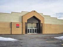 Закрытый вход торгового центра стоковое фото
