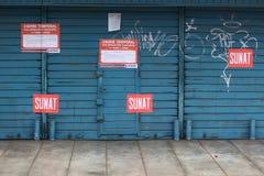 закрытый данник магазина lima Перу нарушения Стоковые Фото