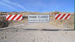 закрытый дорожный знак Стоковые Фотографии RF