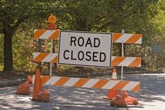 закрытый дорожный знак стоковая фотография rf