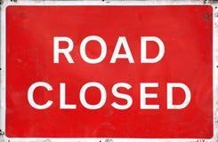 закрытый дорожный знак Стоковая Фотография