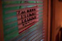 закрытый знак двери Стоковое Изображение RF