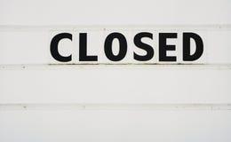 закрытый знак стоковое изображение