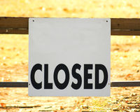 закрытый знак Стоковое Фото