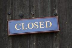 закрытый знак Стоковая Фотография