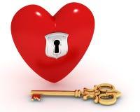 закрытый ключ сердца бесплатная иллюстрация