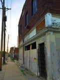 Закрытый магазин на угле на заходе солнца 03 Стоковое Изображение RF