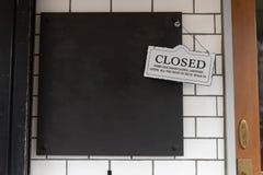 Закрытый подпишите в магазине стоковая фотография rf