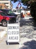 закрытый тротуар Стоковое Изображение RF