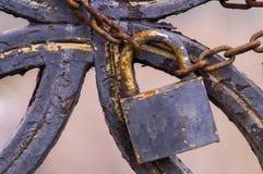 закрытый padlock Стоковая Фотография