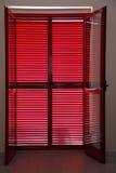закрытый verandah jalousies двери который Стоковые Фотографии RF