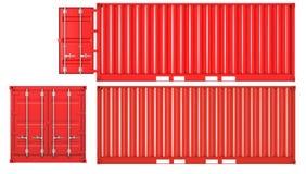 закрытым взгляд со стороны контейнера раскрытый фронтом Стоковое Изображение