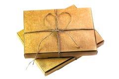 2 закрытых картонной коробки для пиццы или пирога Стоковые Изображения RF