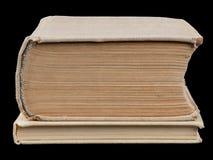 2 закрытых книги на черноте Стоковое Изображение