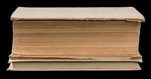 2 закрытых книги на черноте Стоковое Фото