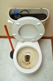 закупоренный туалет стоковое фото