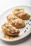 Закуска на куске хлеба Стоковые Фотографии RF