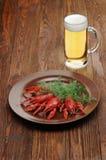 Закуска пива раков стоковое изображение rf