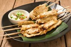 Закуска свинины Satay тайская Стоковые Изображения RF