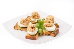 Закуска с украшенными яичками Стоковое Изображение