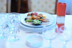 Закуска таблицы свадьбы Стоковое Изображение RF