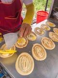 Закуска токио Яичко и цыпленок при сосиска обернутая вверх с мукой Стоковые Фото