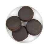Закуска шоколада испечет в блюде Стоковая Фотография