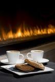 Закуска Fireside Стоковая Фотография RF