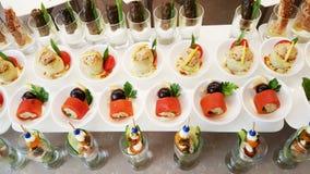 закуски в ресторане Стоковые Изображения RF