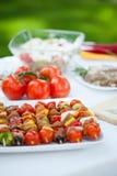 Закуски готовые для приём гостей в саду Стоковое Изображение RF