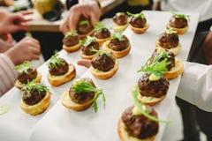 Закуски идей еды свадьбы стоковая фотография rf
