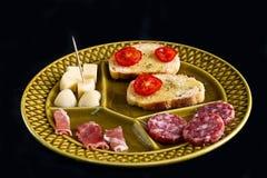 закуски итальянские Стоковое Изображение