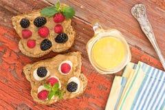 Закуски на здоровом пикнике страны Стоковые Фото