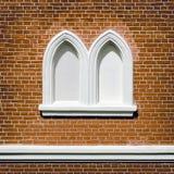 Закладыванное кирпичами Windows Стоковое Изображение