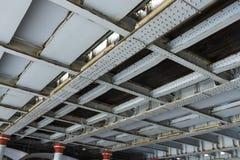 Заклепки и утюг, мост нижней стороны железнодорожный Стоковое Изображение RF