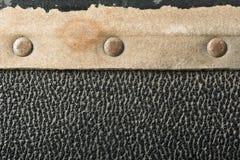 Заклепки и части кожи от чемодана Стоковые Фото