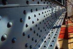 Заклепки на металле Стоковое Фото