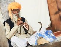 Заклинатель змей Индии Стоковое Изображение