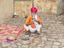 Заклинатель змей, Джайпур, Индия Стоковая Фотография RF