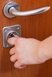 Заключительная дверь квартиры ключом Стоковое фото RF