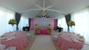 Зала банкета свадьбы видеоматериал