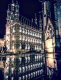 зала Венгрия города здания columned стоковое изображение